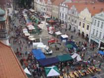 Rybářské slavnosti 2009 - pohled z věže na Masarykovo náměstí