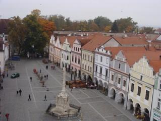 Třeboňské náměstí z vyhlídkové věže