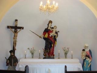 Interier kaple v Břilicích