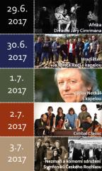 Václav Neckář s kapelou na Okolo Třeboně 2017