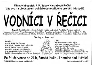 Vodníci v Řečici - divadlo v Lomnici n. L.