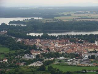 Letecké snímky Třeboně - fotogalerie