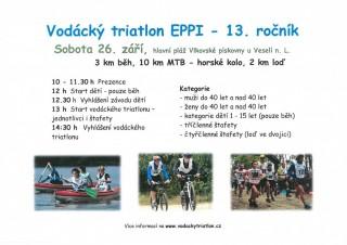 Vodácký triatlon EPPI 2015 - plakát