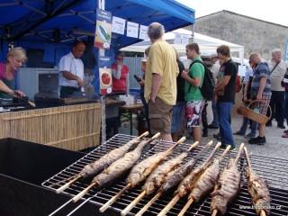 Gastronomie Rybářských slavností  v Třeboni a na Třeboňsku byla  i v roce 2014 samozřejmě hlavně o rybách z Rybářství Třeboň a.s...