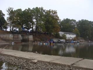 Snímek z výlovu rybníka Rožmberk
