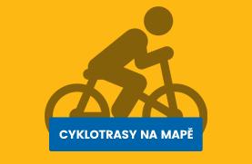 Cyklotrasy na mapě
