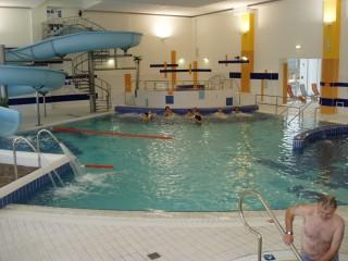 Rehabilitační bazén, tobogán, whirpool, divoká řeka