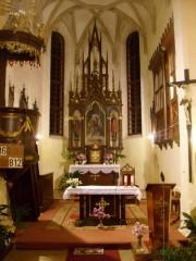 Interiér kostela sv. Mikuláše