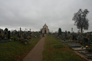 Pohled na hřbitov od kostela