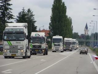 Truck show Lužnice - spanilá jízda