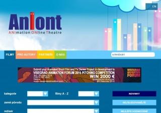 Portál Aniont.com - homepage