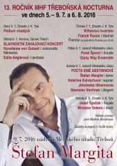 Třeboňská nocturna - plakat 2016