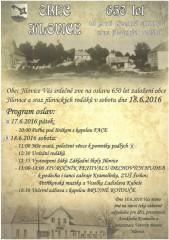 650 let Jílovic - plakát