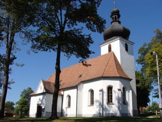Jílovice kostel