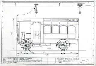Trolejbus TMG - plán