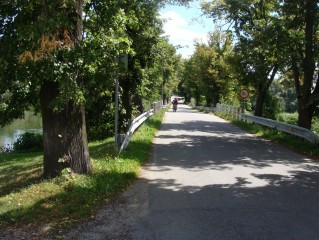Slověnice - most přes zátoku Dvořiště