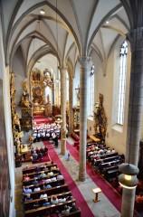 Kostel v Třeboni je dvoulodní