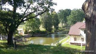 Řeka Lužnice, vytékající z Rožmberku