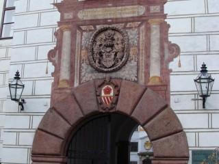 Znak Rožmberků na Zámku v Třeboni
