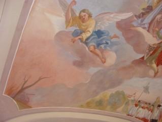 Zajímavé fresky v chlumeckém kostele