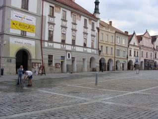 Náměstí Třeboň - úklid po akci