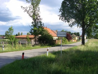 Domanín, příjezd od Třeboně