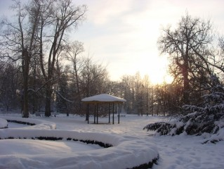 Zámecký park v zimě