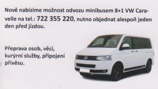 Nová nabídka - odvoz minibusem