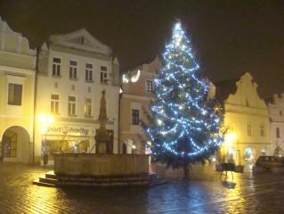 Vánoční strom v Třeboni