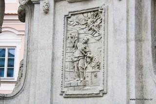 Mariánský sloup, detail