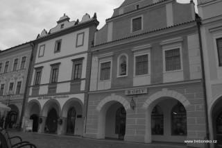 Domy na třeboňském náměstí