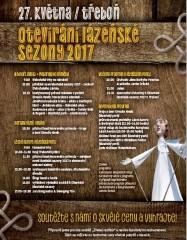 Otevírání lázeňské sezóny 2017 - plakát s programem