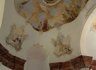 Zámek Jemčina - cenné fresky