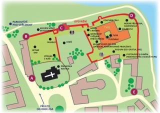 Muzejní noc 2017 - mapka