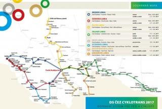 Cyklotrans - mapa 2017