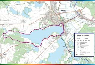 Cesta kole Světa - mapka