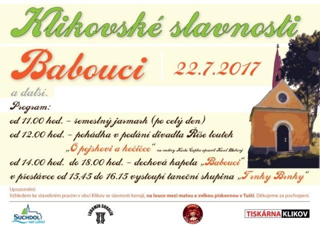 Klikovské slavnosti 2017 - pozvánka