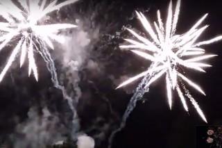 Sobotní velkolepý ohňostroj (viz video)