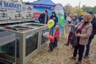 Prodej živých ryb, pstruhů