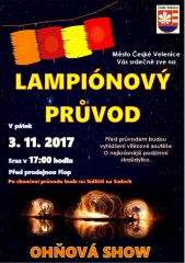 Lampionový průvod 2. 11. 2017