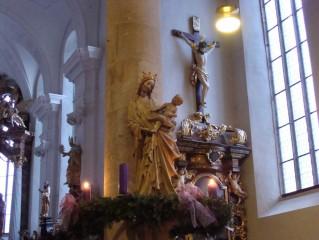 Třeboňská Madona a adventní věnec