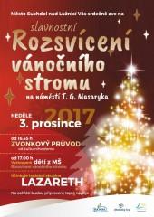 Rozsvícení vánočního stromu v Suchdole
