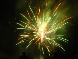 Novoroční ohňostroje na Třeboňsku