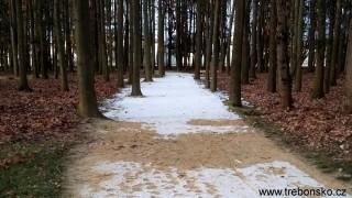 Promenádní stezky v lázeňském parku