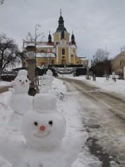 Křížová cesta v zimě