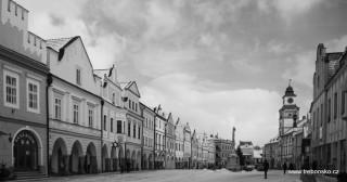 Černobílá Třeboň - Masarykovo náměstí