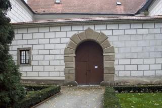 Zámek Třeboň -vstup do galerie