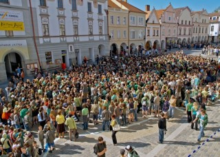 Náměstí v Třeboni 22. dubna 2009