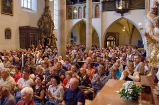 Kostel P.Marie Královny a sv.Jiljí, Třeboň pondělí 3.7.2017