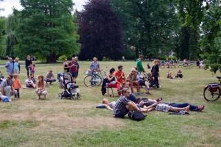 Zámecký park ve festivalových dnech